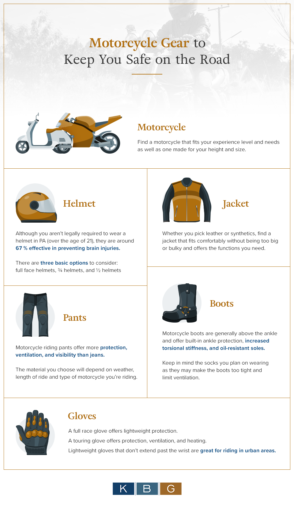 Motorcycle Gear to keep You Safe on the Road [infographic]