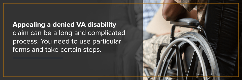 Appealing a denied VA disability claim can be a long and complicated process.