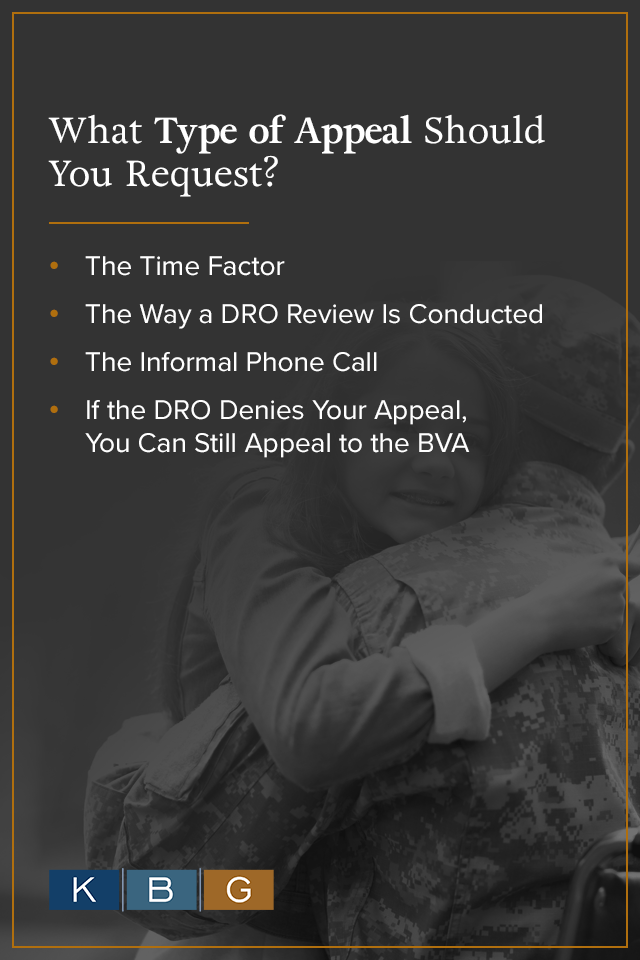 What Type of Appeal Should You Request? [list]