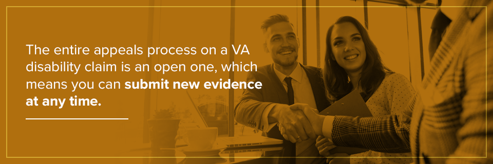 You can submit new evidence at any time.