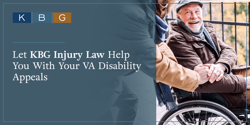 Let KBG Injury Law help you with your VA disability appeals.