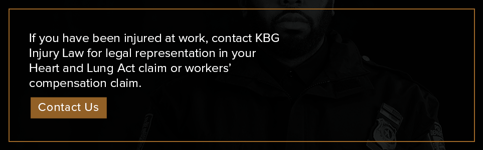 Contact KBG Injury Law for legal representation in your Heart and Lung Act claim.