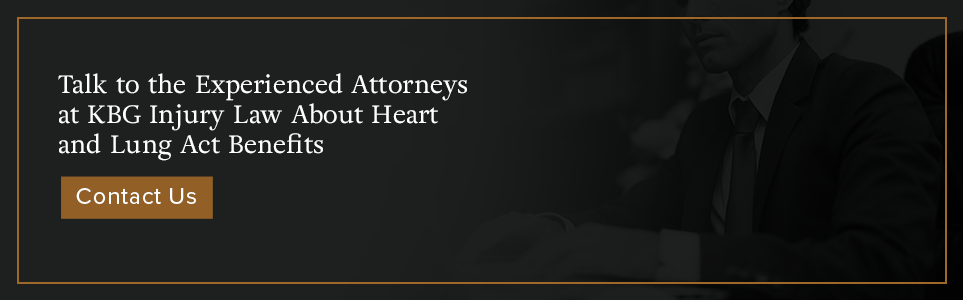 Talk to the experienced attorneys at KBG Injury Law about Heart and Lung Act Benefits.