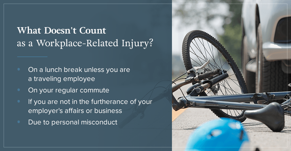 What doesn't count as a workplace-related injury? [list]