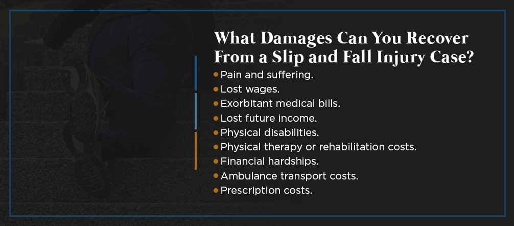 What Damages Can You Recover From a Slip and Fall Injury Case?