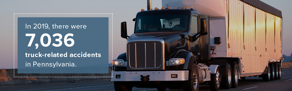 In 2019, there were 7,036 truck-related accidents in Pennsylvania.